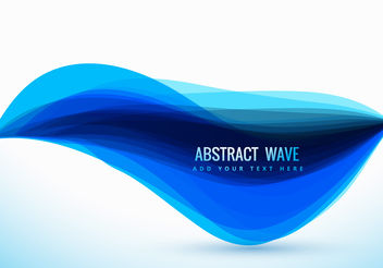 Clean vector blue wave design - Free vector #199839