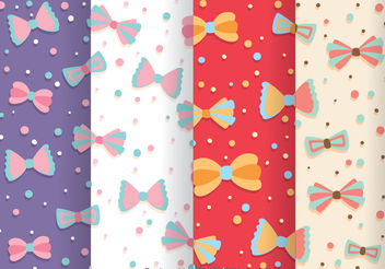 Bow Ties Pattern Vectors - vector gratuit #199879