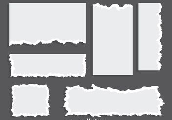 Blank Ripped Paper Vectors - Free vector #199899