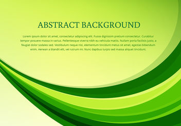 Vector green wave background - vector gratuit #199919