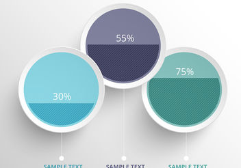 Clean Colorful Infographic Vector Circles - бесплатный vector #199929