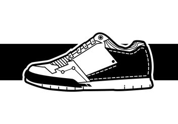 Cool Men Sneakers Vector - vector gratuit #199989