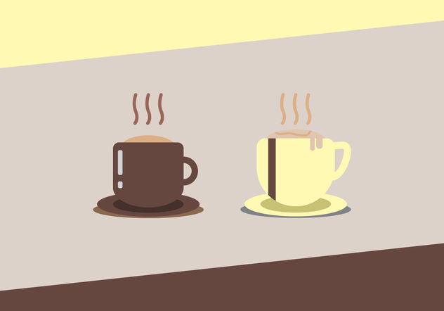 Hot Coffee Vectors - vector gratuit #200009
