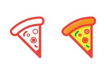 A Slice of Pizza Vector - vector gratuit #200019