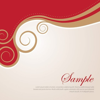 Golden Swirls Abstract Background - vector gratuit #200059