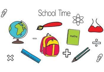 School Vector Shapes - vector gratuit #200109