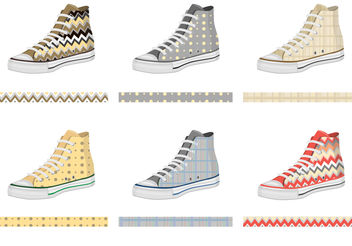 Mens Keds with Pattern Vectors - бесплатный vector #200199
