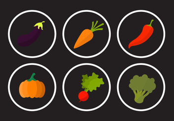 Collection of Vegetable Vectors - бесплатный vector #200219
