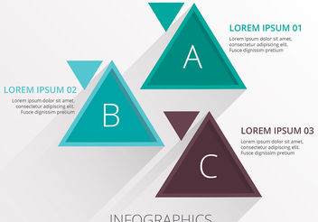 Triangle infographic business template vector - vector gratuit #200319