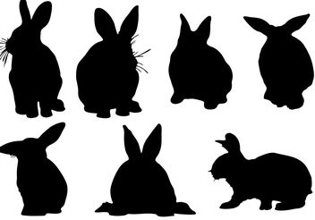 Free Rabbit Silhouette Vector - бесплатный vector #200389
