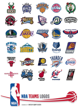 NBA Teams Logos - vector #200509 gratis