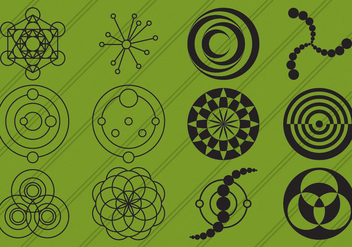 Crop Circles Icons - vector #200539 gratis