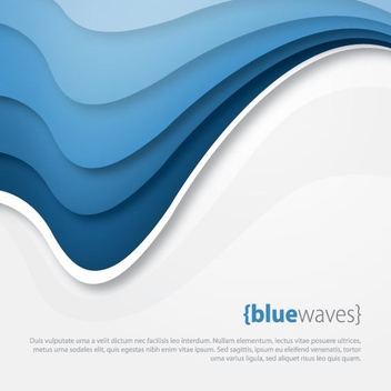 Blue Arched Waves Grey Background - vector gratuit #200639