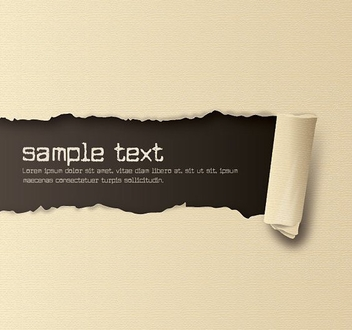 Ripped Effect Brown Paper Message - vector gratuit #200769