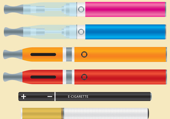 Vaporizers And E-cigarettes - vector gratuit #200849
