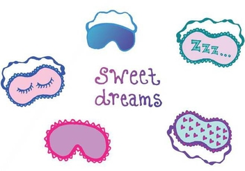 Free Sleep Mask Vector Series - Free vector #200869