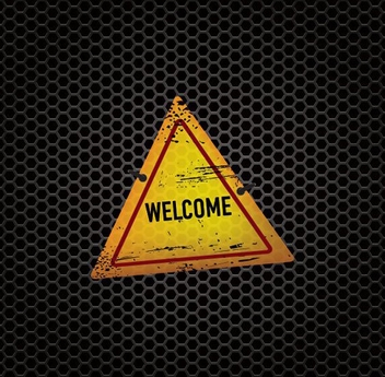 Welcome Sign Metal Texture - Free vector #200909