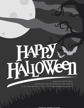 Happy halloween haunted House design - vector gratuit #200919