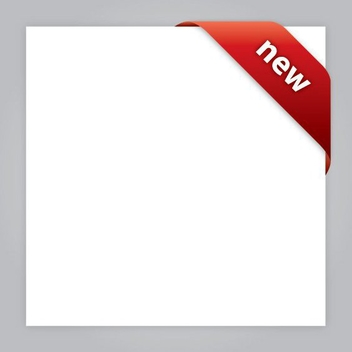 Red Cornered Label White Page - Free vector #200959