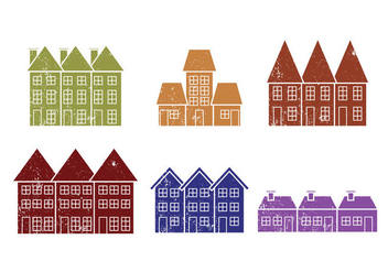 Townhomes Vectors - бесплатный vector #201169
