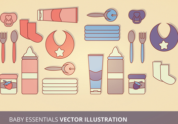 Baby Essentials Vector Illustration - Free vector #201229