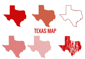 Texas map vectors - vector gratuit #201279