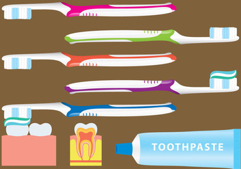 Toothbrushing Vectors - Free vector #201299