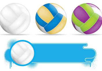 Volleyball Banners - vector #201349 gratis