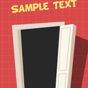 Free Vector Cartoon Door - vector gratuit #201749