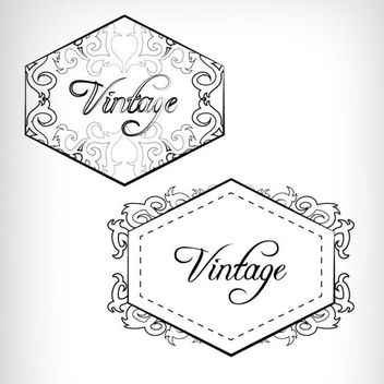 Vintage Label and Badge Design Vectors - Free vector #201779
