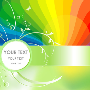 Abstract Rainbow Background - Free vector #201819
