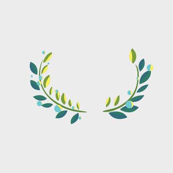 Free Vector Laurel Ornament - Kostenloses vector #201829