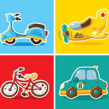 Transportation Vectors - Free vector #201899