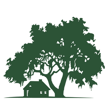 Free Vector Silhouette Oak Tree with Cabin - Free vector #201919