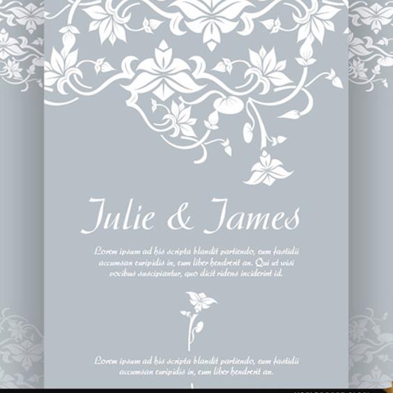 Floral wedding invitation vector free vector download 201929 cannypic floral wedding invitation vector free vector stopboris Image collections
