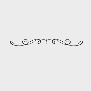 Free Vector Swirl Vintage Ornament - Free vector #201959