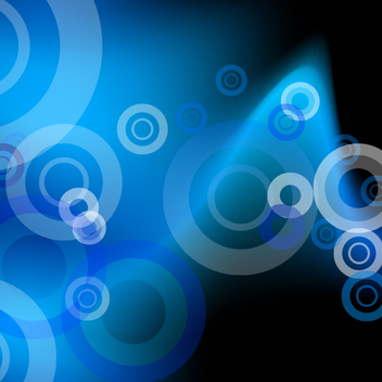 Blue Circles Background - vector gratuit #202019