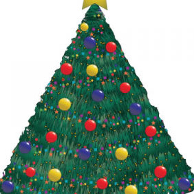 Christmas Tree Vector - Free vector #202089