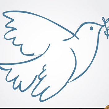White Dove Vector with Laurel - бесплатный vector #202189
