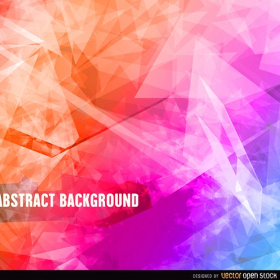 Abstract Polygonal Vector Background - Free vector #202219