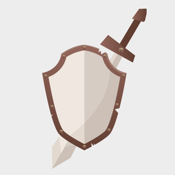 Free Vector Shield and Sword - vector #202329 gratis