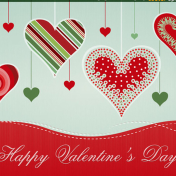 Free Vector Hearts Background Design - Free vector #202349