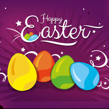 Creative Happy Easter Vector Background - vector gratuit #202489