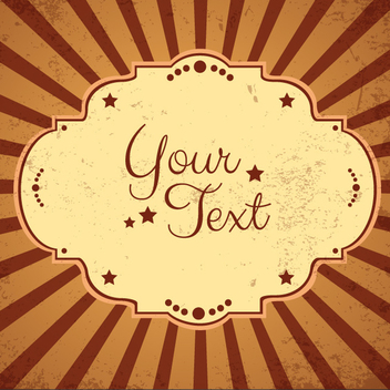 Free Vintage Sunburst Vector Background - Free vector #202559