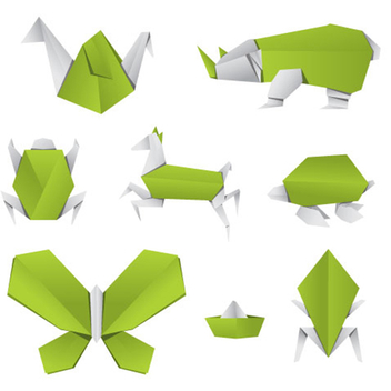 Free Vector Origami Animals - бесплатный vector #202609