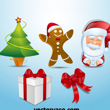 Free Vector Christmas Elements - Kostenloses vector #202619