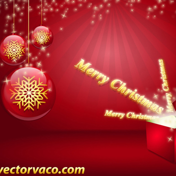 Free Vector Christmas Background - Free vector #202629