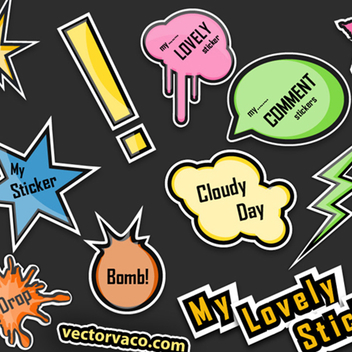 Free Vector Stickers - vector gratuit #202649