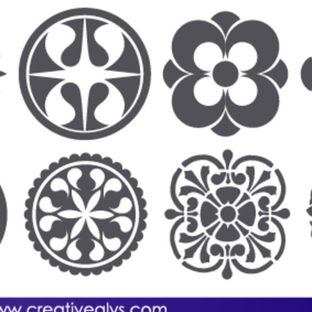 Free Vector Abstract Floral Design Elements - Free vector #202659