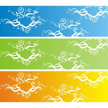 Free Vector Banner With Abstract Background - Free vector #202699